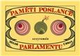 Paměti poslance parlamentu - obálka