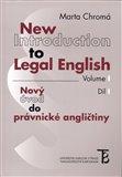 New Introduction to Legal English Volume I - Nový úvod do právnické angličtiny Díl I - obálka
