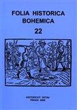 Folia Historica Bohemica, sv. 22. - obálka