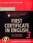 Cambridge First Certificate in English 3 for Updated Exam - obálka