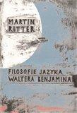 Filosofie jazyka Waltera Benjamina - obálka