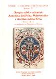 Soupis sbírky  rukopisů Antonína Bedřicha Mitrovského v Archivu města Brna - obálka