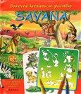 Savana (Barevné kreslení se zvířátky (+ šablona)) - obálka