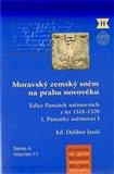Moravský zemský sněm na prahu novověku (Edice Památek sněmovních z let 1518–1570.) - obálka