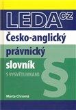 Česko-anglický právnický slovník - obálka