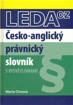 Obálka titulu Česko-anglický právnický slovník