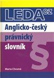 Anglicko-český právnický slovník - obálka