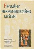 Proměny hermeneutického myšlení - obálka