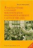 Analýza vývoje a činnosti moravistických politických subjektů v letech 1989–2005 - obálka