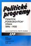 Politické programy českých pokrokových stran 1896-1920 - obálka