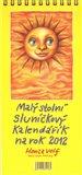 Malý stolní sluníčkový kalendářík na rok 2012 - obálka