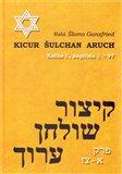 Kicur šulchan aruch (Kniha I.) - obálka