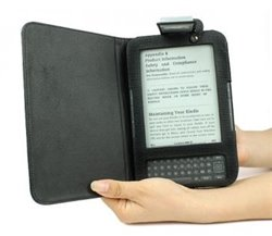 Oblka titulu Pouzdro (desky) pro Amazon Kindle 3 s integrovanou LED lampikou