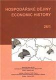 Hospodářské dějiny - Economic History 26/1 - obálka