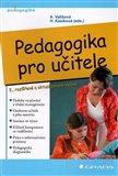 Pedagogika pro učitele - obálka