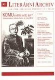 Komu svěřiti tento list? – Korespondence Jakuba Demla do roku 1918 (Literární archiv 43) - obálka
