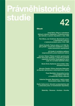 Obálka titulu Právněhistorické studie 42