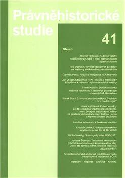 Obálka titulu Právněhistorické studie 41