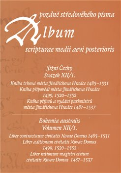 Oblka titulu Album pozdn stedovk&#233;ho p&#237;sma XII/I.