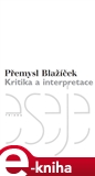 Kritika a interpretace - obálka
