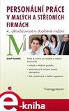 Personální práce v malých a středních firmách (4., aktualizované a doplněné vydání) - obálka