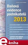 Daňová evidence podnikatelů 2013 - obálka
