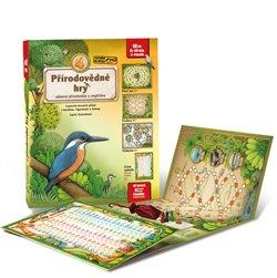 4 přírodovědné hry. Leporelo her s kostkou, figurkami a žetony, pro zábavné učení přírodopisu a angličtiny - Lucie Ernestová