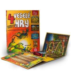 4 veselé hry. Leporelo herních plánů s kostkou a figurkami - Lucie Ernestová