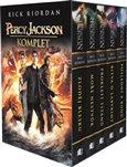 Percy Jackson komplet (Zloděj blesku, Moře nestvůr, Prokletí Titánů, Bitva o labyrint, Poslední z bohů.) - obálka