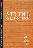 Studie o rukopisech 42 (2012) - obálka