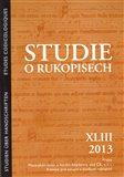 Studie o rukopisech 43 (2013) - obálka
