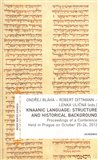 Knaanic Language: Structure and Historical Background (Proceedings of a Conference Held in Prague on October 25-26, 2012) - obálka