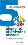 Obálka knihy 5 elementů efektivního myšlení