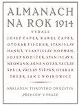 Almanach na rok 1914 - obálka
