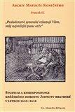 Archiv Matouše Konečného II (Studium a korespondence kněžského dorostu Jednoty bratrské v letech 1610–1618) - obálka