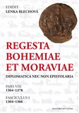 Regesta Bohemiae et Moraviae (Diplomatica nec non epistolaria) - obálka