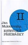 Estetické přednášky II. (Úvod do estetiky. K sémantice lyriky. Estetika výtvarného umění. Malířství.) - obálka