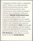 Nejlepší české básně 2015 - obálka