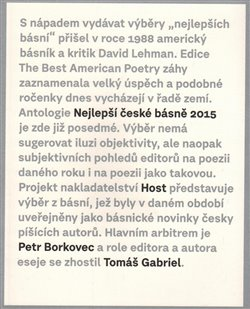 Obálka titulu Nejlepší české básně 2015