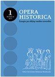 Opera Historica 1/2015 (Časopis pro dějiny raného novověku) - obálka