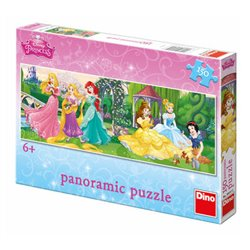 Obálka titulu Puzzle Princezny na promenádě 150 dílků panoramatic