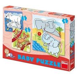 Dino Baby puzzle ZOO 18x18cm v krabici od 24 měsíců 12 dílků