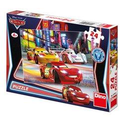 DINO Puzzle Cars Noční závod 24 dílků