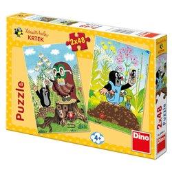 Dino Puzzle Krtek na mýtině 2 x 48 dílků 96 dílků