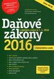 Daňové zákony 2016 (s komentářem změn) - obálka