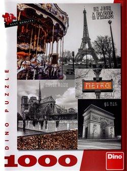 Dino Puzzle Paříž koláž 1000 dílků