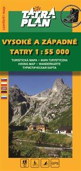 Vysoké a Západné Tatry. 1:55 000 - SK, comfort! map