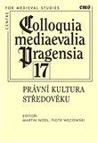 Colloquia mediaevalia Pragensia 17 - obálka