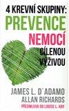 4 krevní skupiny: Prevence nemocí cílenou výživou - obálka