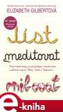 Jíst, meditovat, milovat - obálka